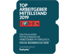 Auszeichnung - Focus Top Arbeitgeber Mittelstand 2019