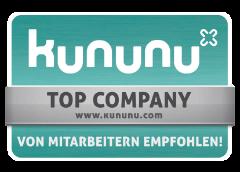 Auszeichnung - Kununu von Mitarbeitern empfohlen